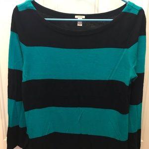 Jcrew striped boatneck sweater